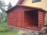 Domek z drewutnią 5m x 2,5m + drewniana podłoga w drewutni