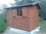 Domek z drewutnią 3x2m.